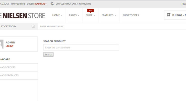 Search product by barcode