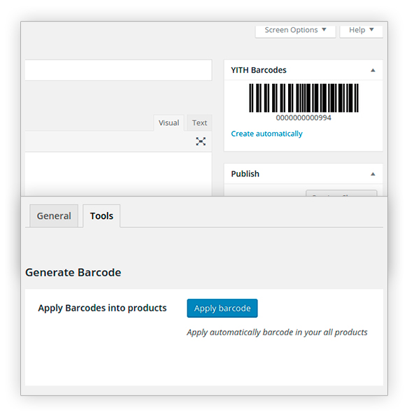 Apply barcodes into products