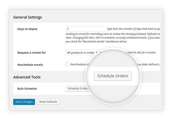 Schedule orders