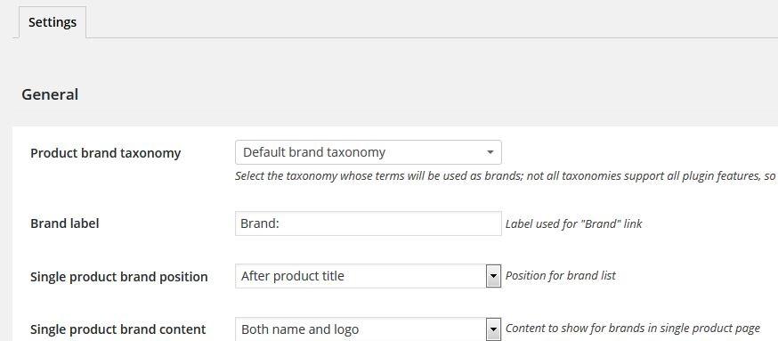 Brands-settings
