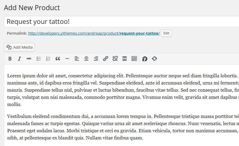 Tattoo-product