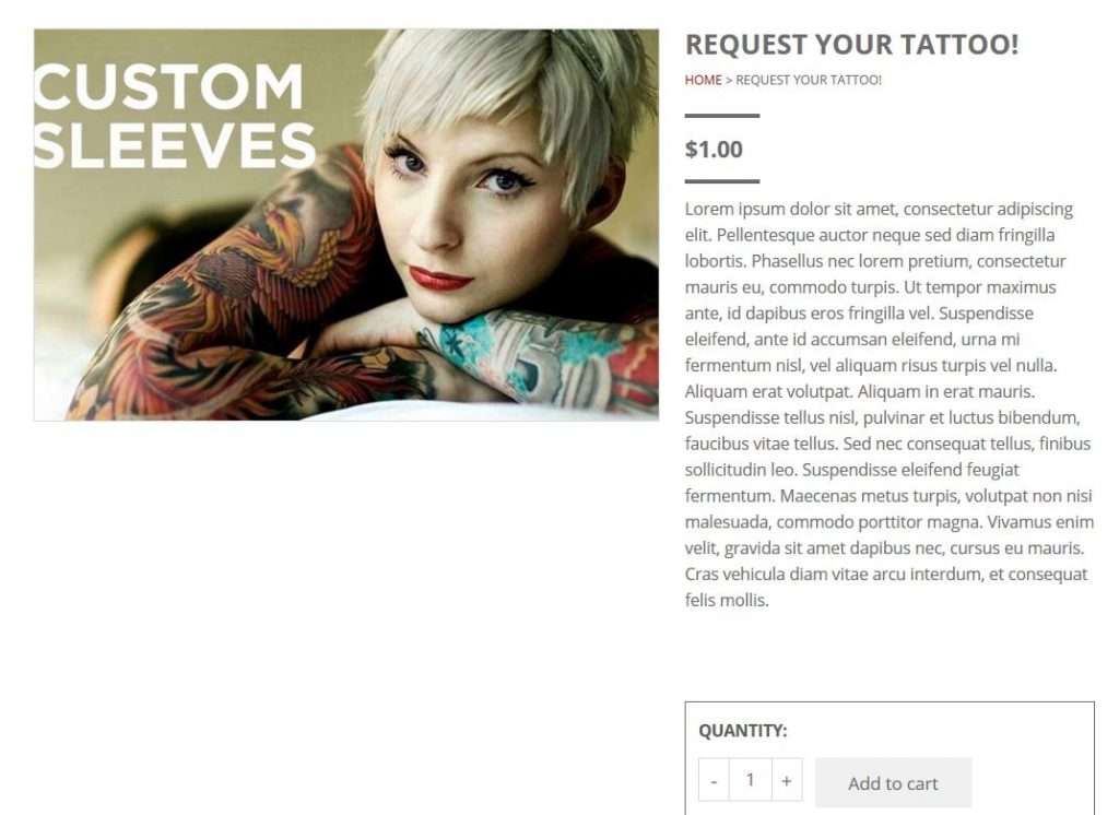 tattoo product-view