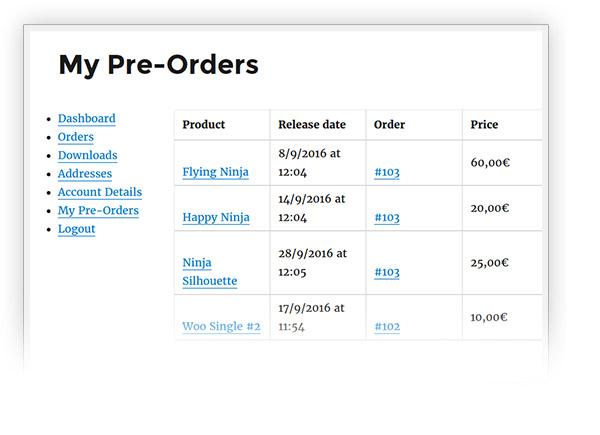 My Pre-Orders