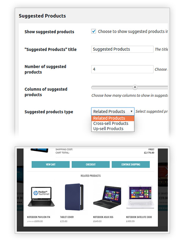 Suggested products type