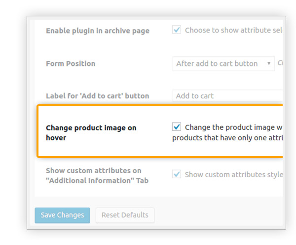 Change product image on hover