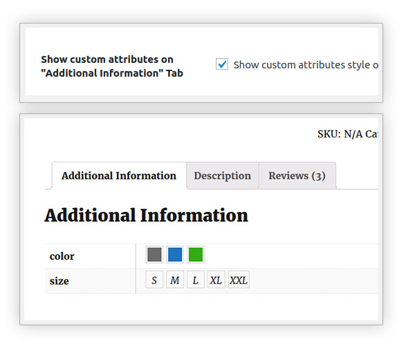 "Custom attributes in tab ""Additional information"""