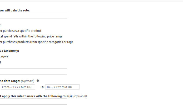 Users purchases products from specific categories or tags