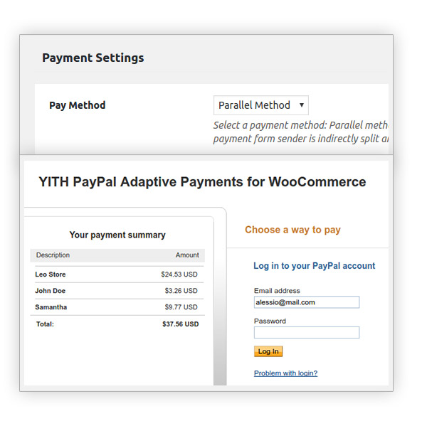 Parallel method for PayPal Adaptive Payments