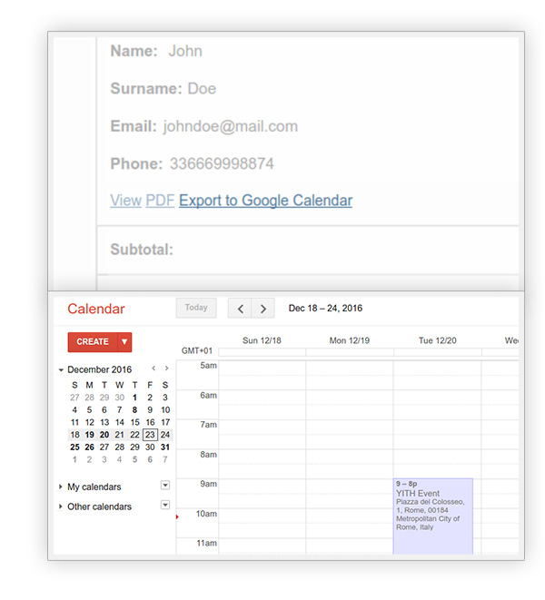 Integration with Google Calendar