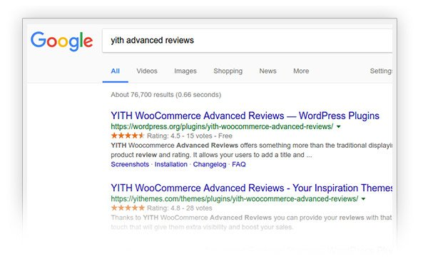 Integration with Google review snippet