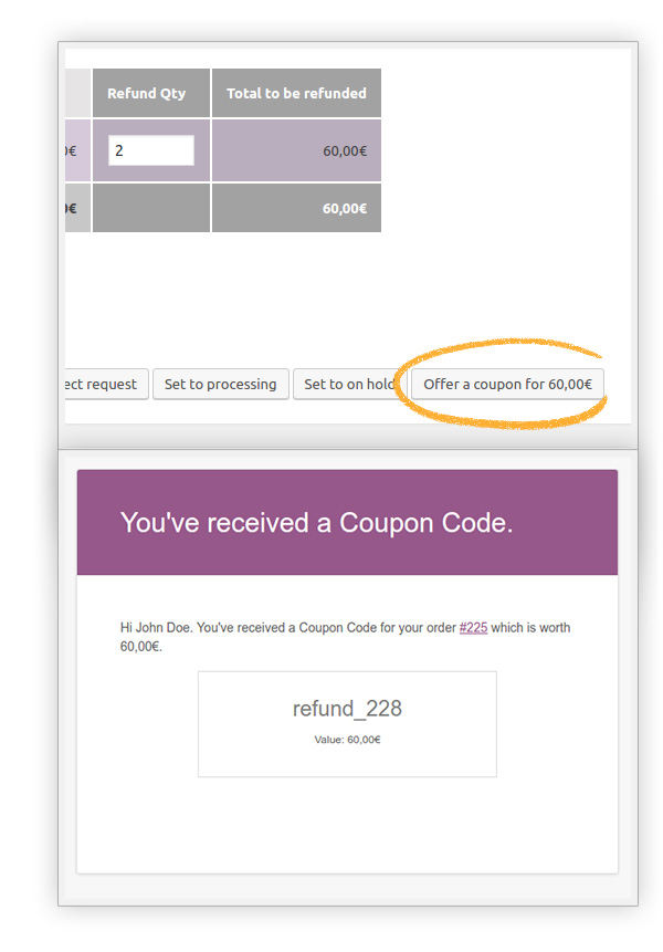 Offer coupon