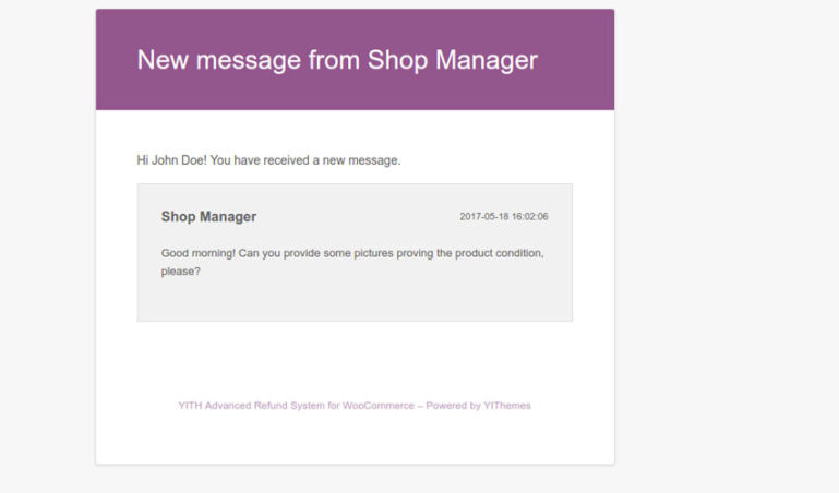 User email - New message