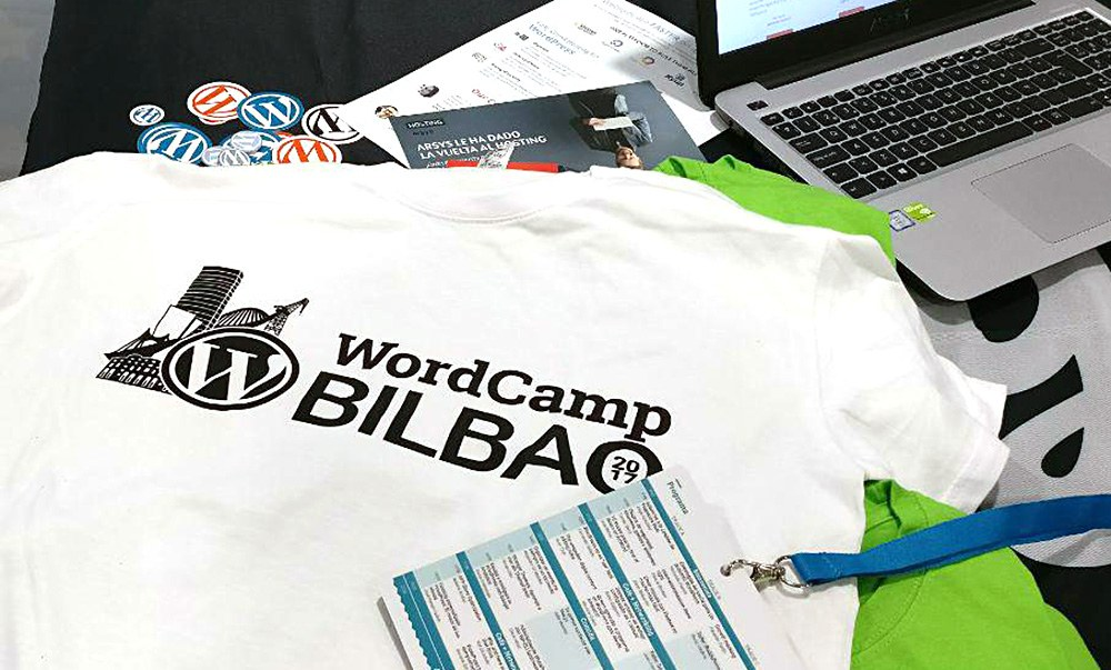 The official t-shirt of WordCamp Bilbao
