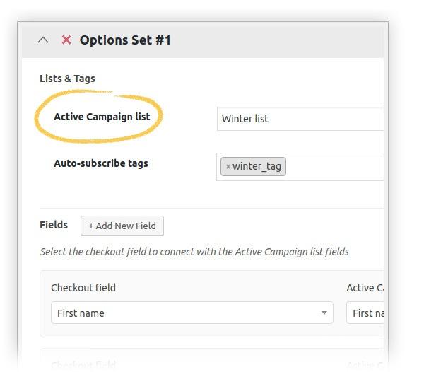 Choose active campaign list