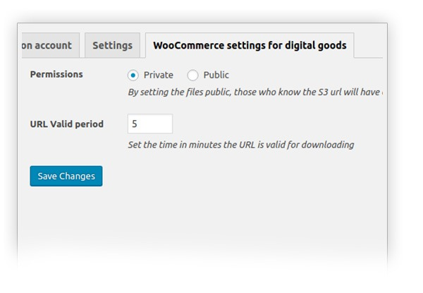 WooCommerce settings for digital goods
