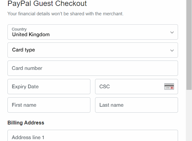 PayPal guest checkout 01