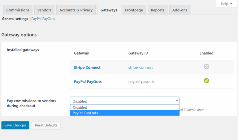 Multi Vendor - Enable instant Payouts on checkout