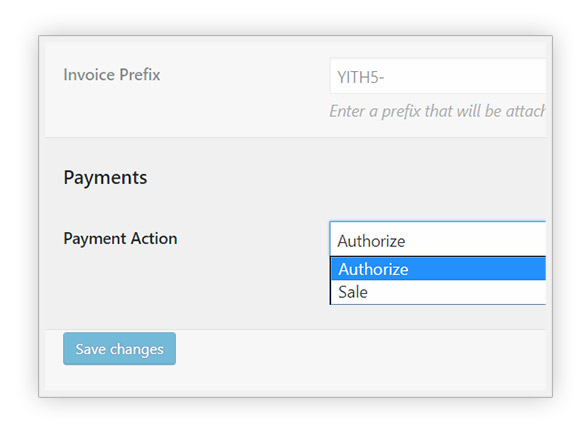 PayPal Authorize option