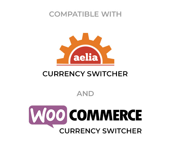 Compatible with Aelia and WC Currency Switcher