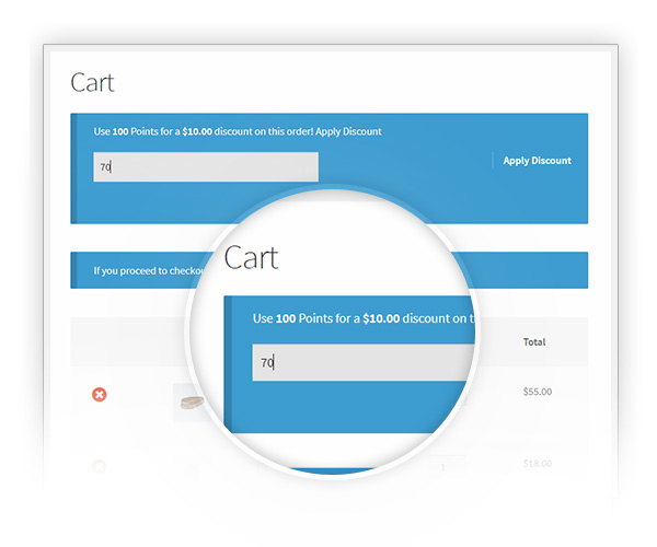Redeem points in cart