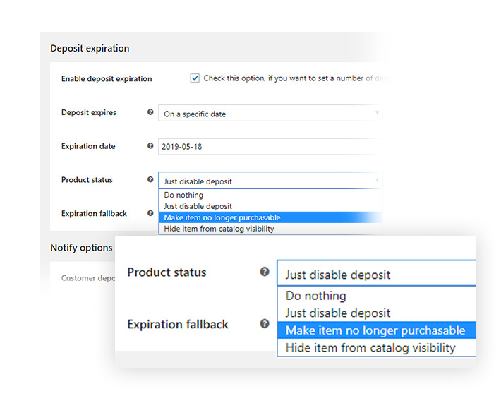 Expiration product status