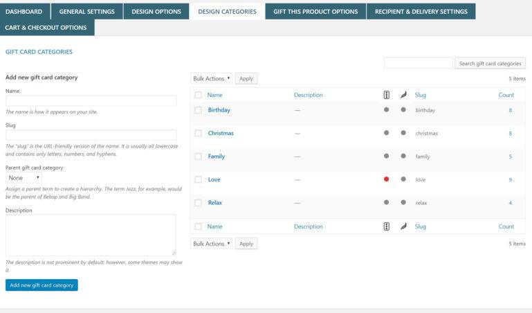 Design categories