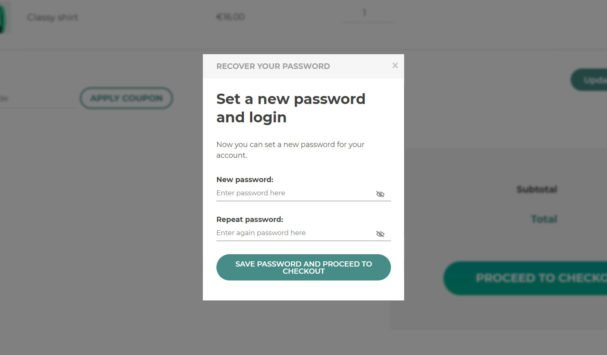 Password reset - Set new password