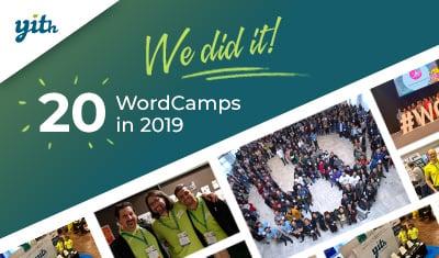 Sponsoring Twenty WordCamps; a recap of an extraordinary year.