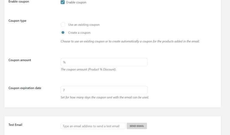 Email settings 3