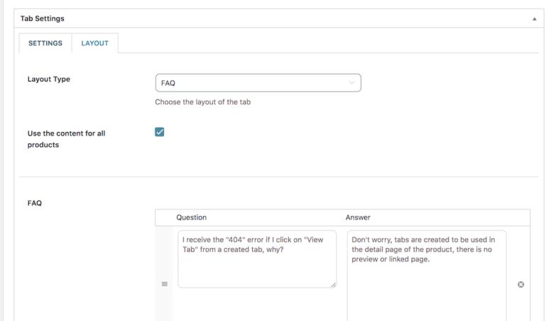 """Layout """"FAQ"""" (admin)"""