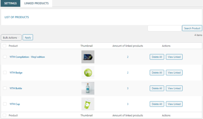 Linked products