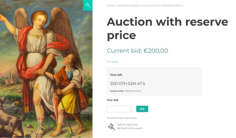 Auction with reserve price