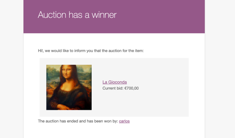 Auction winner