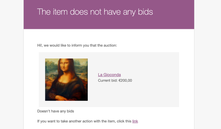 Auction without bid