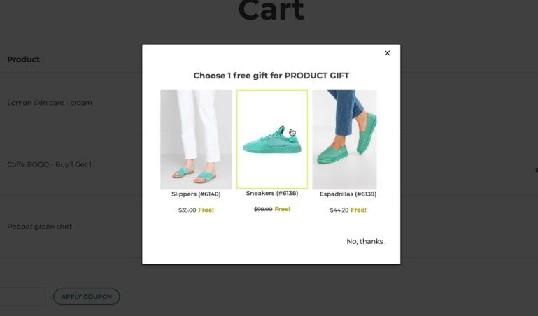 Select a gift product