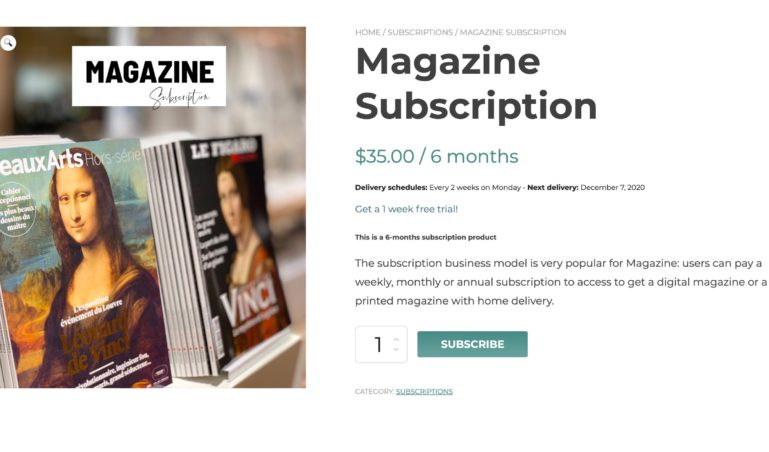 Subscription product