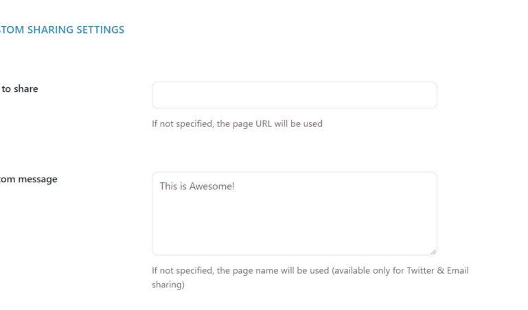Custom sharing settings