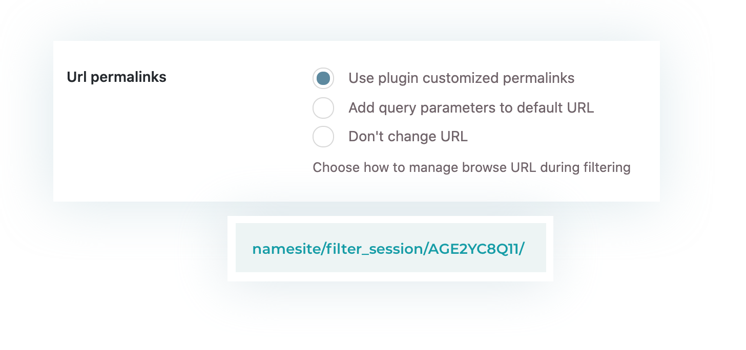 Optimized URLs for filters