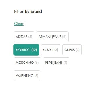 Filter by brand (using tags as brands)
