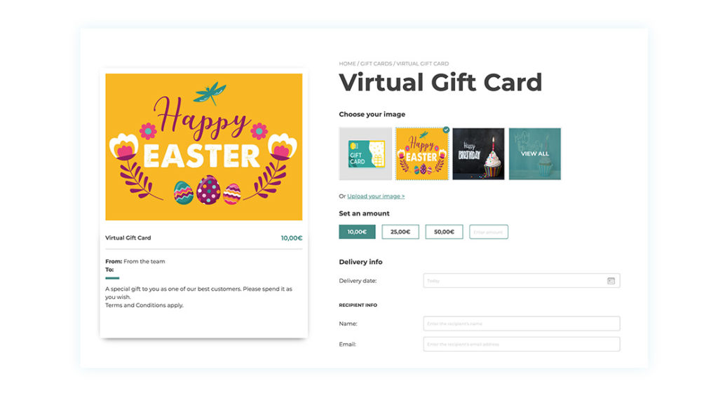 WoCommerce Gift cards