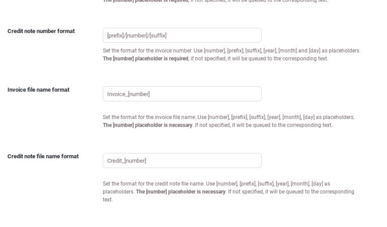 Document settings