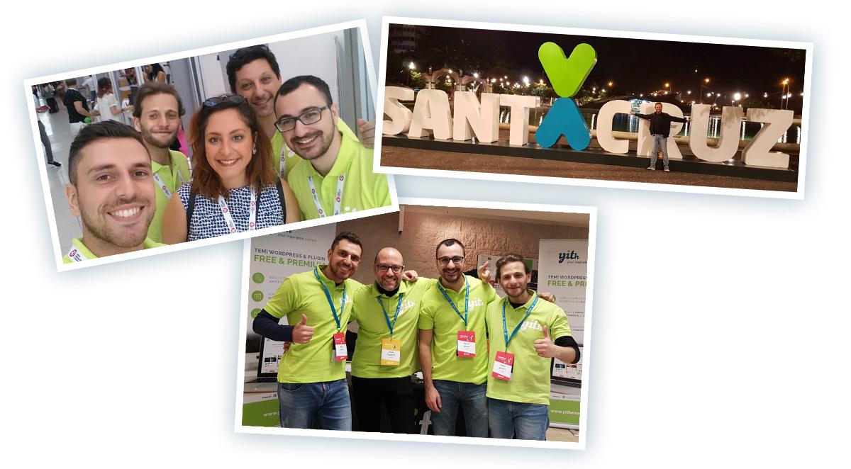 Three images of Antonio, in Santa Cruz and with the team.