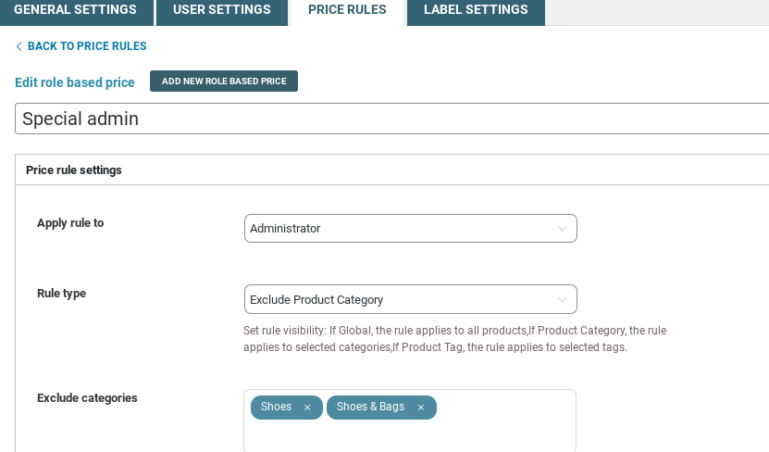 Exclude product category