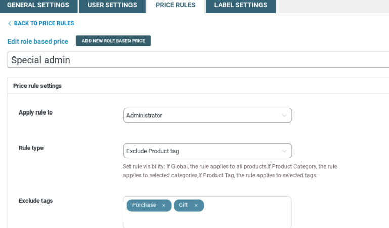 Exclude product tag