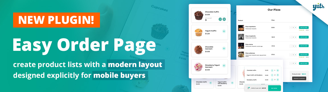 YITH Easy Order Page plugin