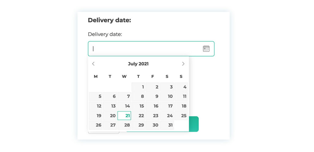 Delivery date