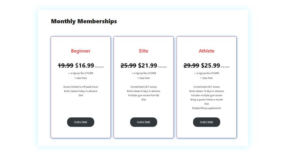 Discount subscription/membership signups