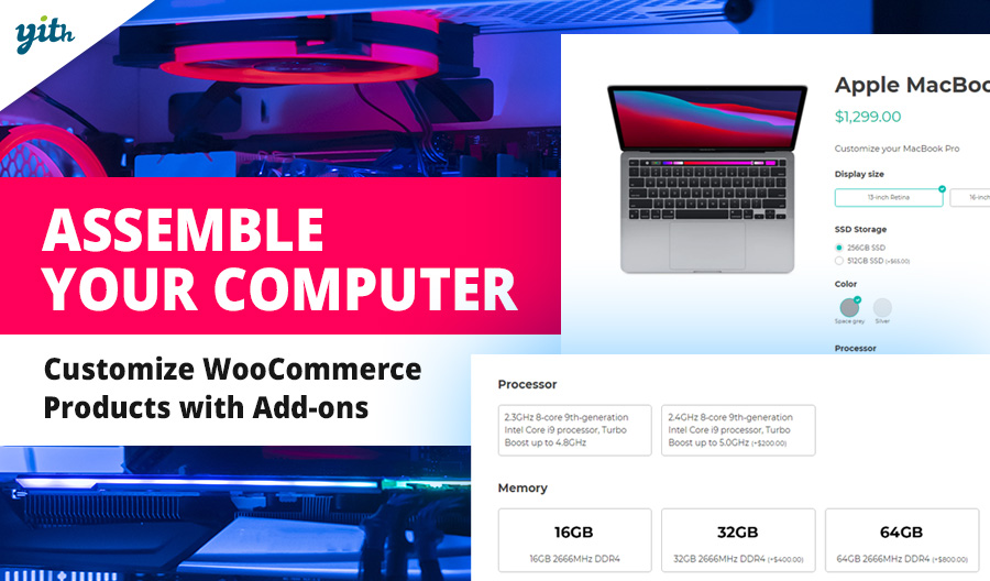 Assemble your computer; customize WooCommerce Products with Add-ons