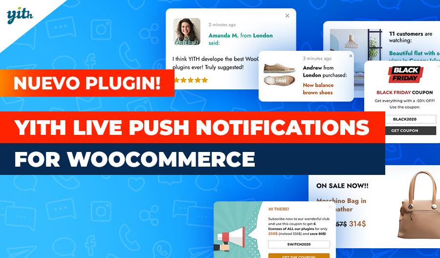YITH Live Push Notifications for WooCommerce: aprovecha los principios de la validación del comprador y demostración social en tu tienda