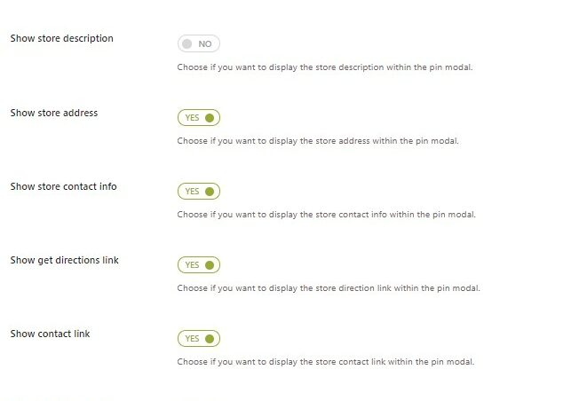 Store Locator Page - Pin info madal settings 2/2